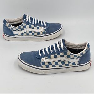Vans Old Skool Checkerboard Blue/White Sz 8